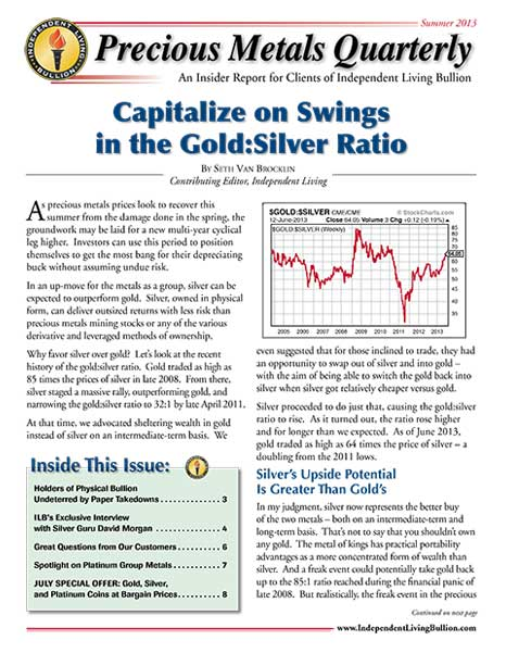Money Metals Insider - Summer 2013