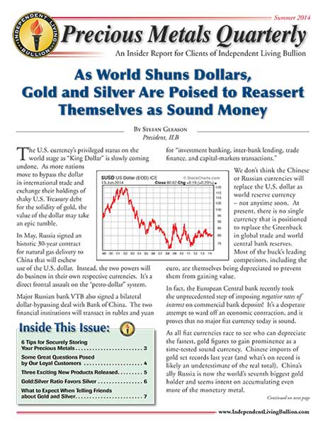 Money Metals Insider - Summer 2014