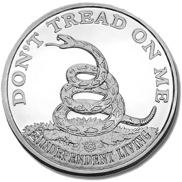 Buy Don't Tread On Me / Tea Party Silver Round (1 Oz) Coins