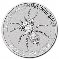 Australian Funnel Web Spider Silver Coin