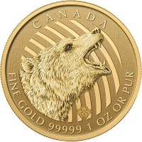Canadian Roaring Grizzly  - 1 Troy Oz. .99999 Pure Gold
