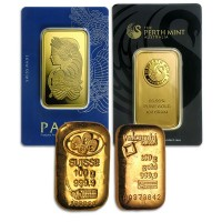 100 Gram Gold Bar - Various