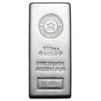 Royal Canadian Mint Silver Bar - 100 oz .9999 Silver