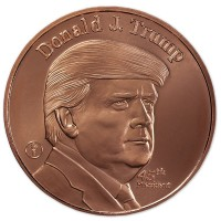 Copper President Trump Round - 1 AVDP Oz, .999 Pure Copper