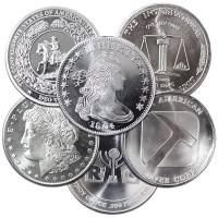 Silver Round - Random Design - 1 Oz .999 Pure