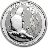 1 Oz Australian Platinum Platypus Coins