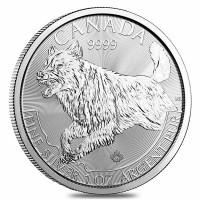 2011 Canada $5 Timber Wolf Wild Life series 1oz Fine Silver Bullion Coin round