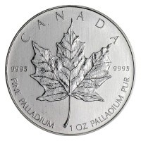 Canadian Palladium Maple Leaf Coins (1 Oz)