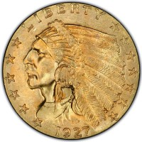 $2.50 Indian Head - .1209 Troy Ounce Gold Content