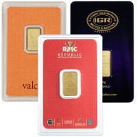 2.5 Gram Gold Bars, .9999 Pure