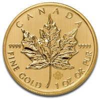 1 Oz Canadian Maple Leaf Gold Coins