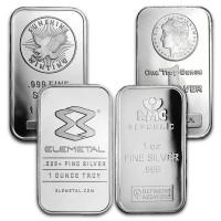 1 Ounce Silver Bar, .999 Pure