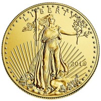1/2 Oz American Gold Eagle Coin, 22k Purity