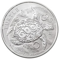 2 Oz New Zealand Silver Hawksbill Turtle