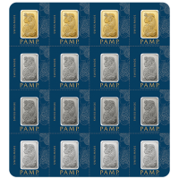 Multigram Portfolio - Qty 16 2.5 Gram Bars, 4 Ea in Gold, Silver, Platinum & Palladium