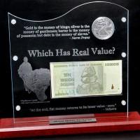 Silver versus Zimbabwe Dollar Display