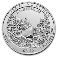 America the Beautiful - River of No Return Wilderness 5 Ounce .999 Silver
