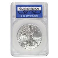 Silver American Eagle - In Congratulations Capsule