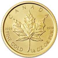 1/4 Oz Canadian Maple Leaf Gold Coins
