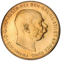 Austrian 100 Corona - .9802 Ounces Gold