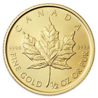 1/2 Oz Canadian Gold Maple Leaf Coins