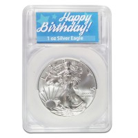 Silver American Eagle - In Happy Birthday Capsule