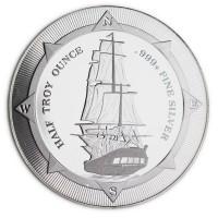 New Zealand Mint's HMS Bounty - HALF Oz .999 Silver Coin