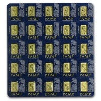 PAMP Multigram+25 Gold Bars - Qty 25 1g Bars