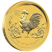 2017 1 Oz Gold Lunar Year of the Rooster