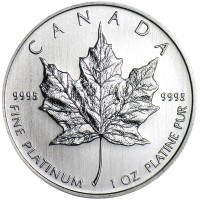 1 Oz Canadian Platinum Maple Leaf Coins