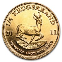 1/4 Oz South African Krugerrand Gold Coin