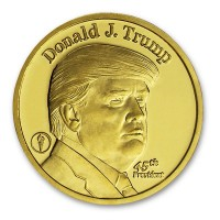 1/4 oz Donald Trump Gold Rounds, .9999 Pure