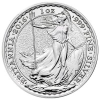 British Silver Britannia Coin - 1 Troy Oz, .999 Pure