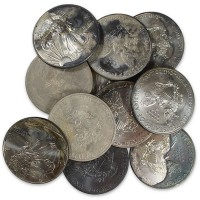 Circulated Cull Silver Eagles (Tarnished or Spotted)