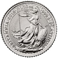 Royal Mint Platinum Britannia - 1/10th Oz Coin .9995 Pure