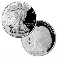 1/4 oz Walking Liberty Silver Rounds