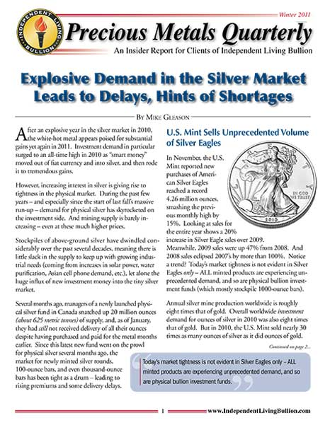 Money Metals Insider - Winter 2011