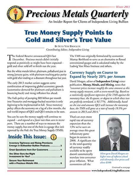Money Metals Insider - Winter 2013