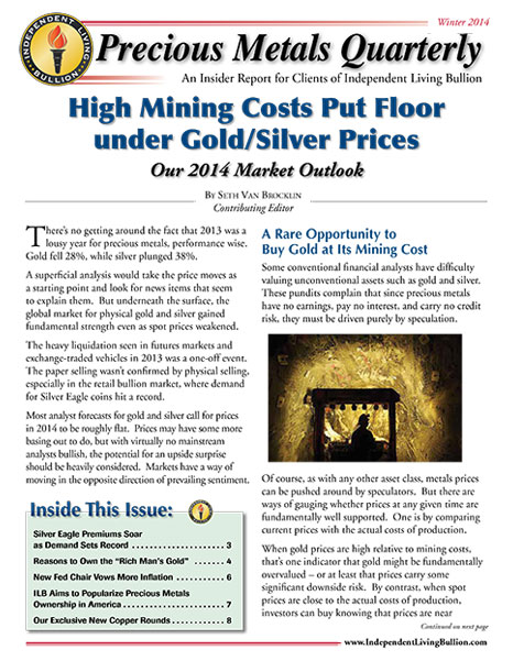 Money Metals Insider - Winter 2014