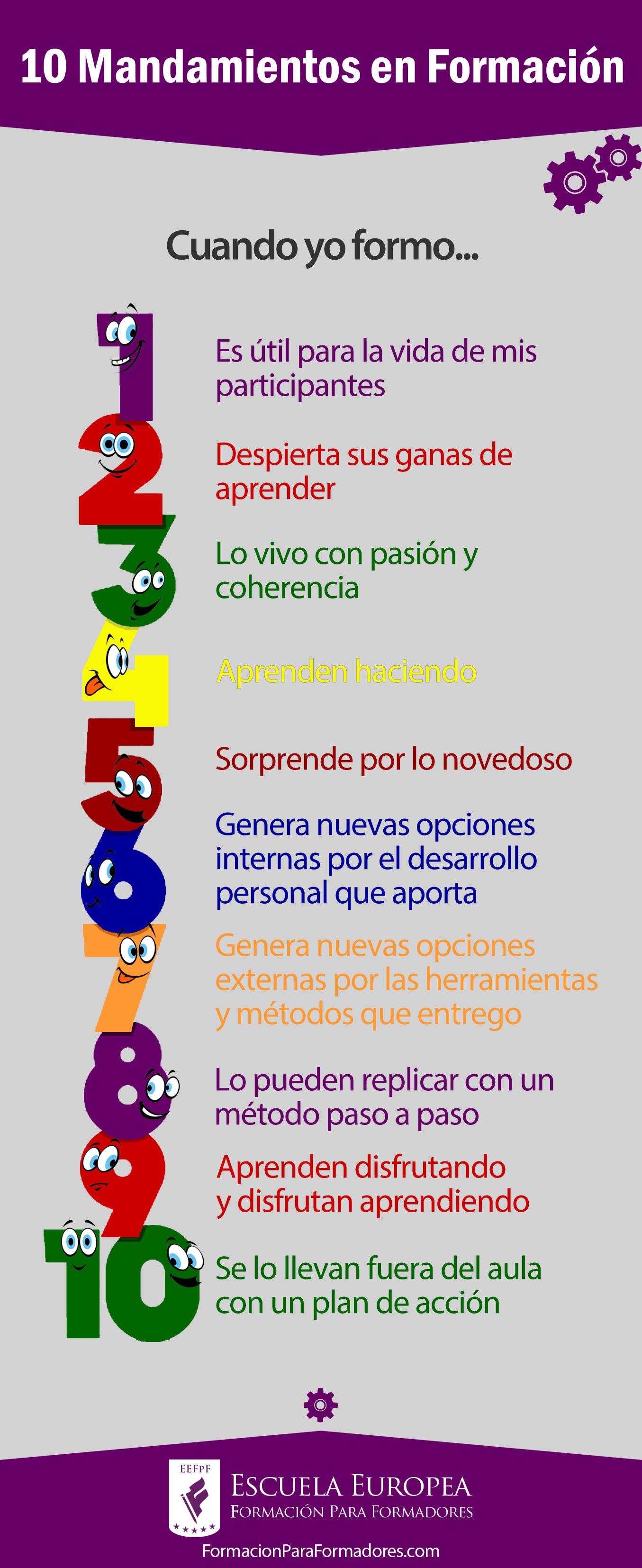 10 mandamientos en formaci n escuela europea formaci n para formadores - Los 10 locos mandamientos ...