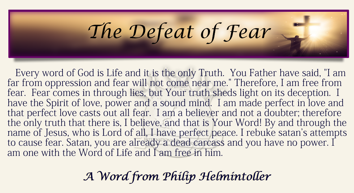 Daily Confession- The Defeat of Fear – International