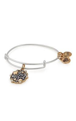 Bat Mitzvah Two Tone Charm Bangle product image