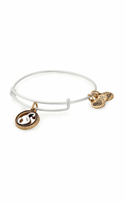 Initial S Two Tone Charm Bangle product image