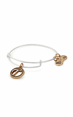 Initial T Two Tone Charm Bangle product image