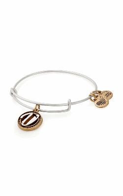 Initial V Two Tone Charm Bangle product image