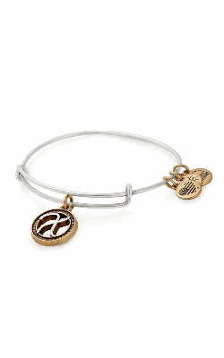 Initial X Two Tone Charm Bangle product image