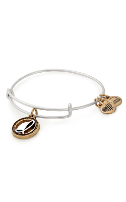 Initial I Two Tone Charm Bangle product image