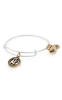Initial J Two Tone Charm Bangle product image