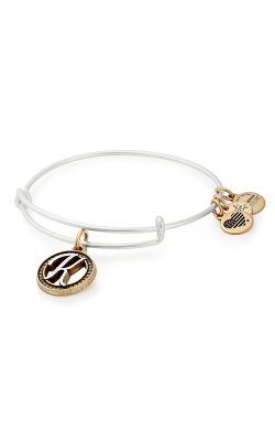 Initial K Two Tone Charm Bangle product image