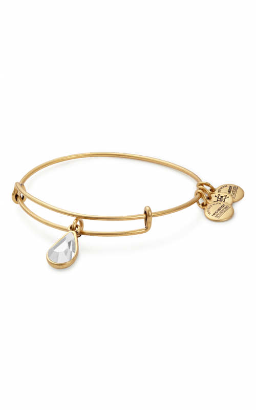 April Birth Month Charm Bangle With Swarovski Crystal product image